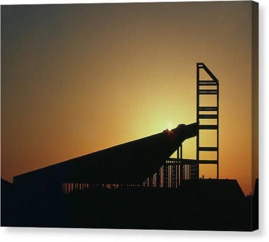 Church Structure At Sunrise Canvas Print