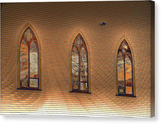 Church Windows Canvas Print