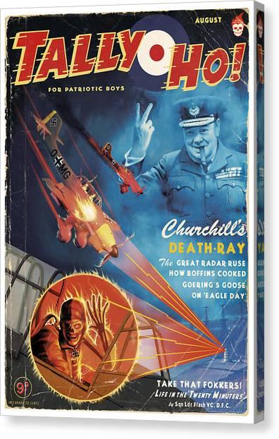 Churchill's Death Ray Canvas Print by Alex Tomlinson