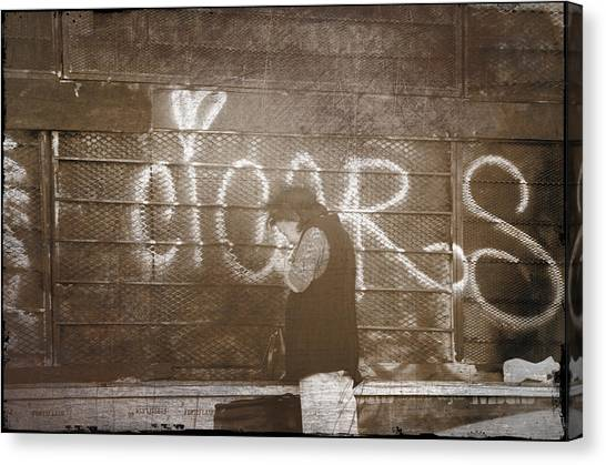 Cigars Only Canvas Print