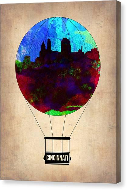 Ohio Canvas Print - Cincinnati Air Baloon by Naxart Studio