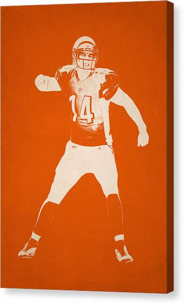 Cincinnati Bengals Canvas Print - Cincinnati Bengals Shadow Player by Joe Hamilton