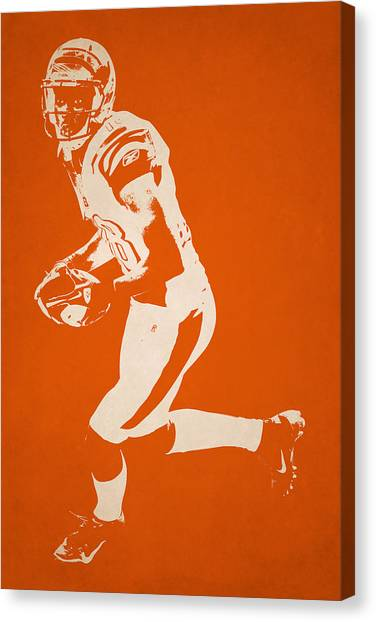 Cincinnati Bengals Canvas Print - Cincinnati Bengals Shadow Player2 by Joe Hamilton