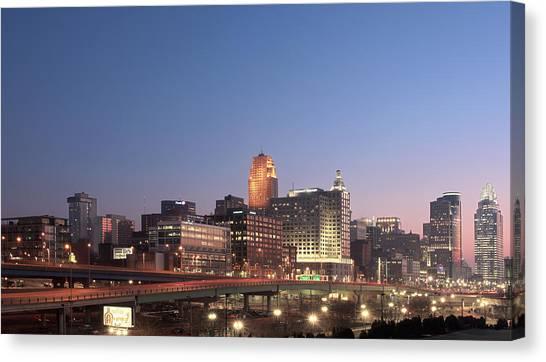 Cincinnati In Morning Twilight Canvas Print