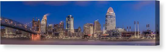 Cincinnati Morning Twilight Canvas Print