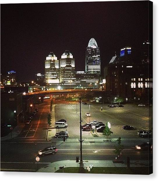 Beagles Canvas Print - Cincinnati Night Life!!! Love This by Caitlin Beagle