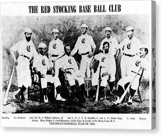 Cincinnati Red Stocking Baseball Team Canvas Print