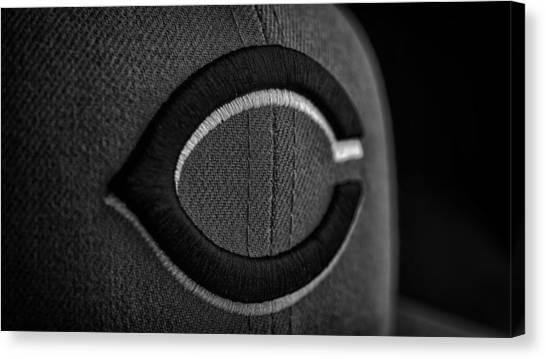 Baseball Teams Canvas Print - Cincinnati Reds Hat by David Haskett II