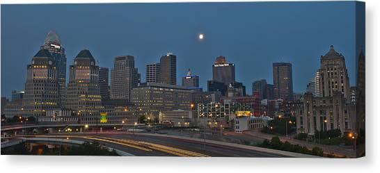 Cincinnati Skyline From Mt. Adams Canvas Print