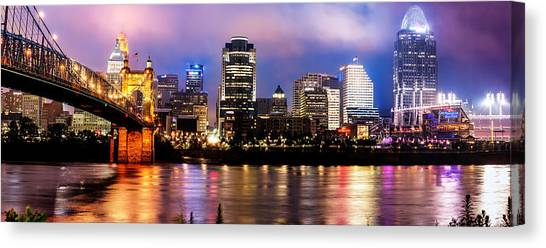 Cincinnati Skyline Panorama Canvas Print