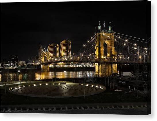 Cincinnati To Covington Canvas Print