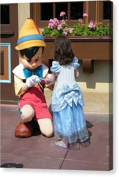 Cinderella Gets Autograph Canvas Print