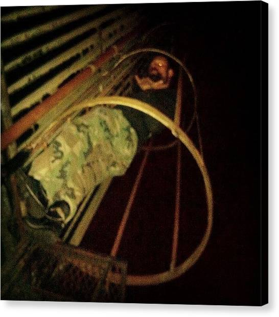 Spelunking Canvas Print - @cinecycle Goes #urban #spelunking On A by Esther Montoro