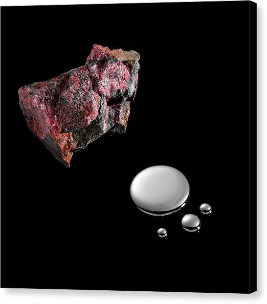 Principals Canvas Print - Cinnabar And Mercury by Science Photo Library