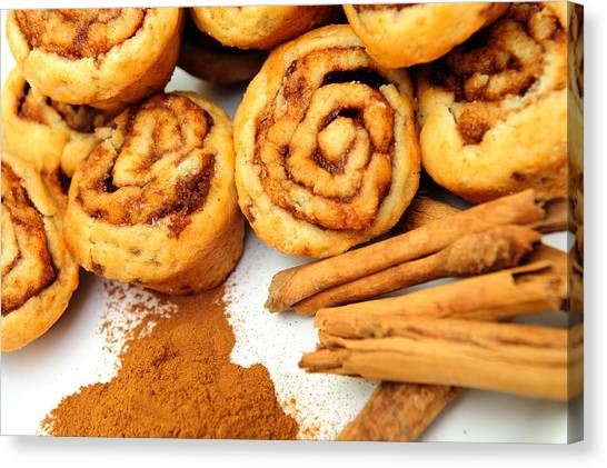 Cinnamon And Rolls Canvas Print by Don Bendickson