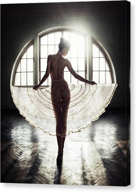 Angel Canvas Print - Circle by David Dubnitskiy