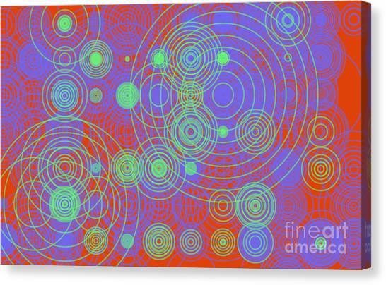 Canvas Print featuring the digital art Circle Of Love  II by Ilona Svetluska