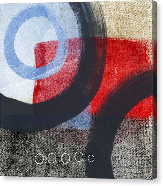 Abstract Canvas Print - Circles 1 by Linda Woods
