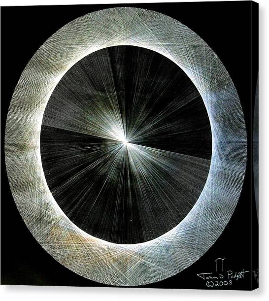 Circles Do Not Exist 720 The Shape Of Pi Canvas Print