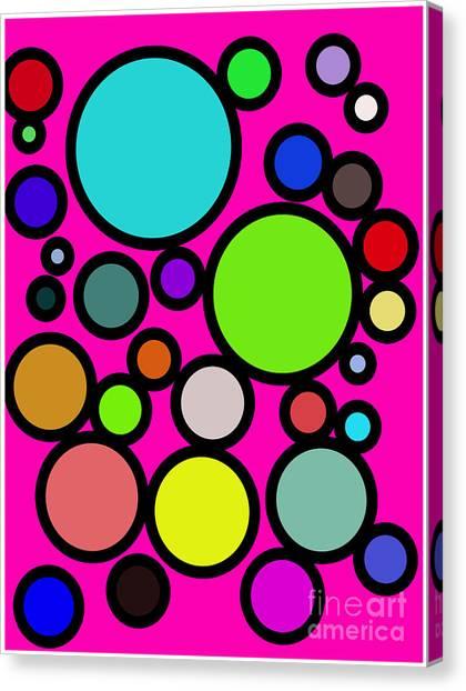 Circles Galore Canvas Print