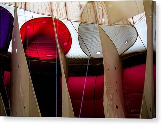 Circles Within Circles - Inside A Hot Air Balloon Canvas Print