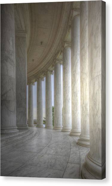 Circular Colonnade Of The Thomas Jefferson Memorial Canvas Print