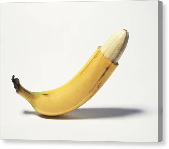 Circumcised Banana Canvas Print by Stuartpitkin