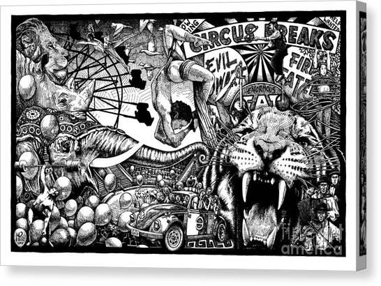 Circus Breaks Canvas Print
