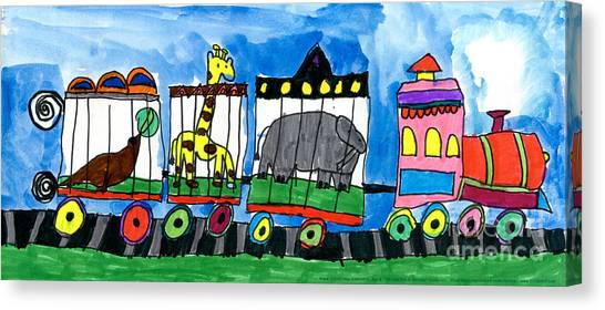 Circus Train Canvas Print