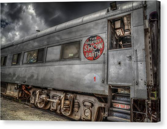 Circus Train Canvas Print