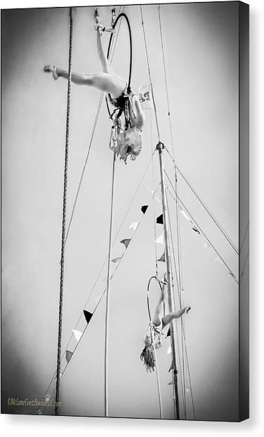 Trampoline Canvas Print - Circus High Flyers by LeeAnn McLaneGoetz McLaneGoetzStudioLLCcom