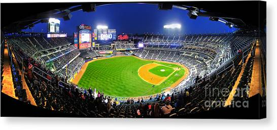 New York Mets Canvas Print - Citi Field And The New York Mets by Nishanth Gopinathan