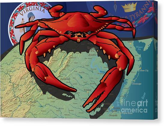 Citizen Crab Of Virginia Canvas Print
