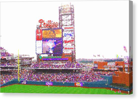 Citizen's Bank Park Canvas Print by Barbara Hammond