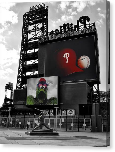 Citizen Canvas Print - Citizens Bank Park Philadelphia by Bill Cannon
