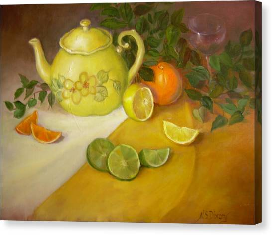 Citrus N Tea Canvas Print