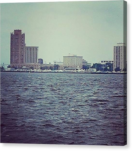 City Across The Sea Canvas Print