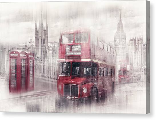 Parliament Canvas Print - City-art London Westminster Collage II by Melanie Viola