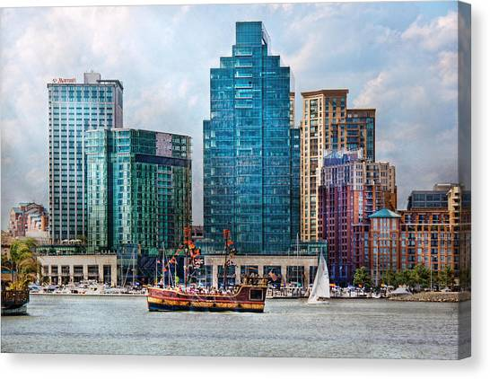City - Baltimore Md - Harbor East  Canvas Print