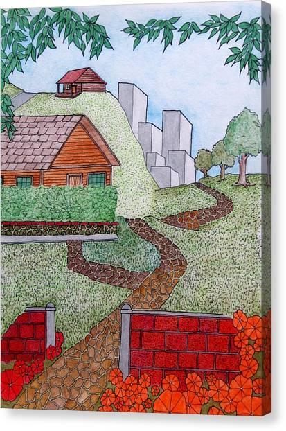 City Cabin Canvas Print