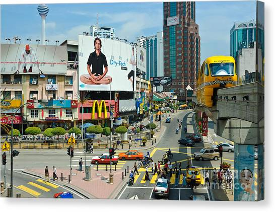 City Centre Scene - Kuala Lumpur - Malaysia Canvas Print