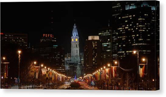 City Hall At Night Canvas Print