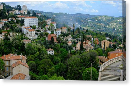City Hills Of Grasse France Canvas Print