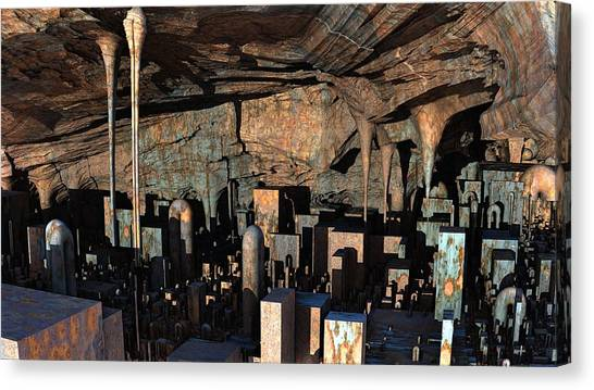 City In A Cavern Canvas Print