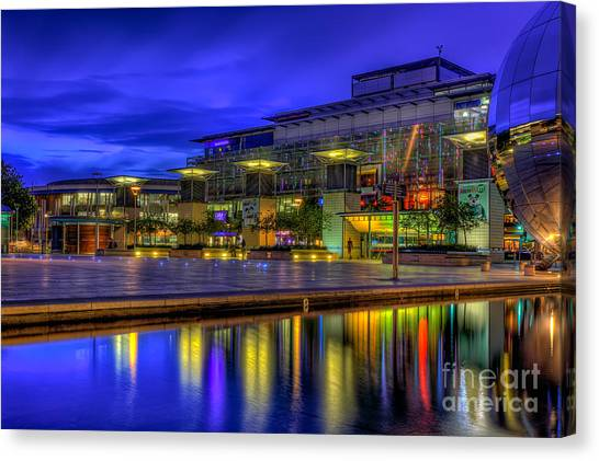 Bristol Canvas Print - City Lights @bristol by Adrian Evans