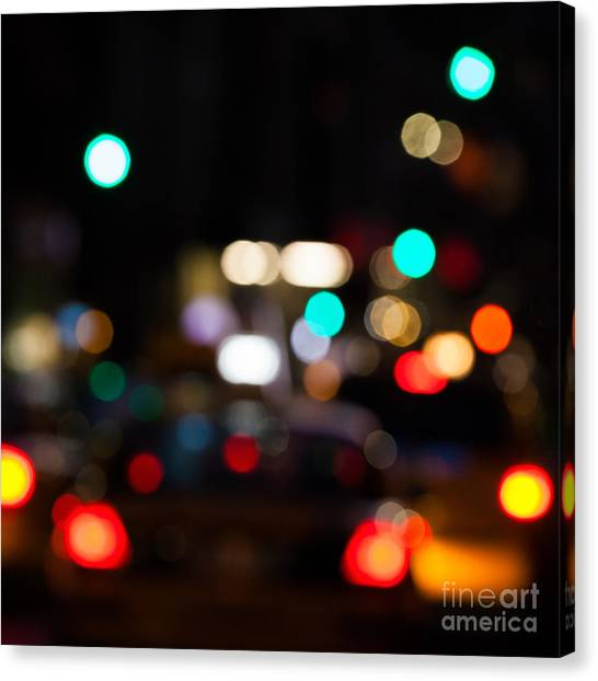 Buildings Canvas Print - City Lights  by John Farnan