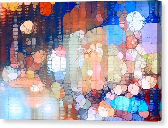 Stoplights Canvas Print - City Lights Urban Abstract by Dan Sproul