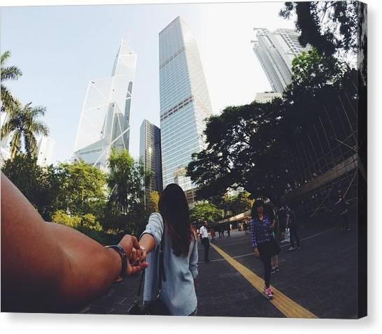 Hong Kong Canvas Print - City Love by Joana San Jose