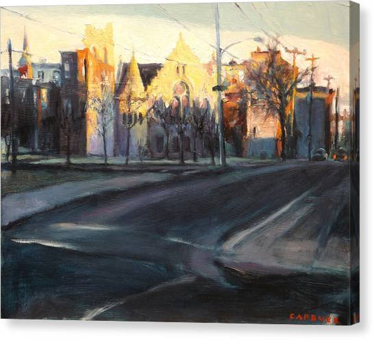 Church Yard Canvas Print - City Of Faith by Jesse Gardner