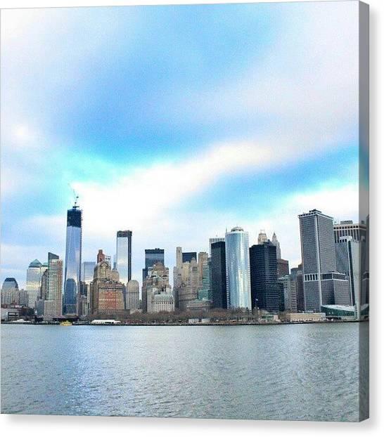 Om Canvas Print - City Of Hope #newyork #ny by Om Bhatia
